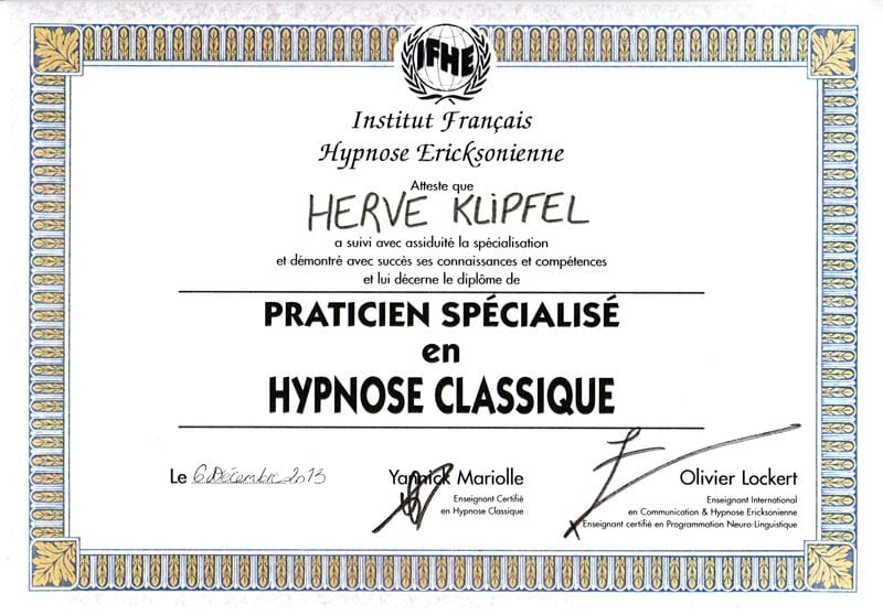 Diplome-Hypnose-Classique-Herve-Klipfel