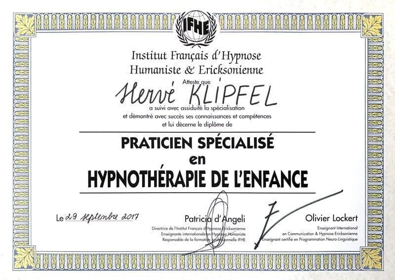 Diplome-Hypnotherapie-Enfance-Herve-Klipfel