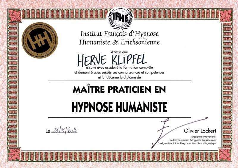 Diplome-Maitre-Praticien-HypnoseHumaniste-Herve-Klipfel
