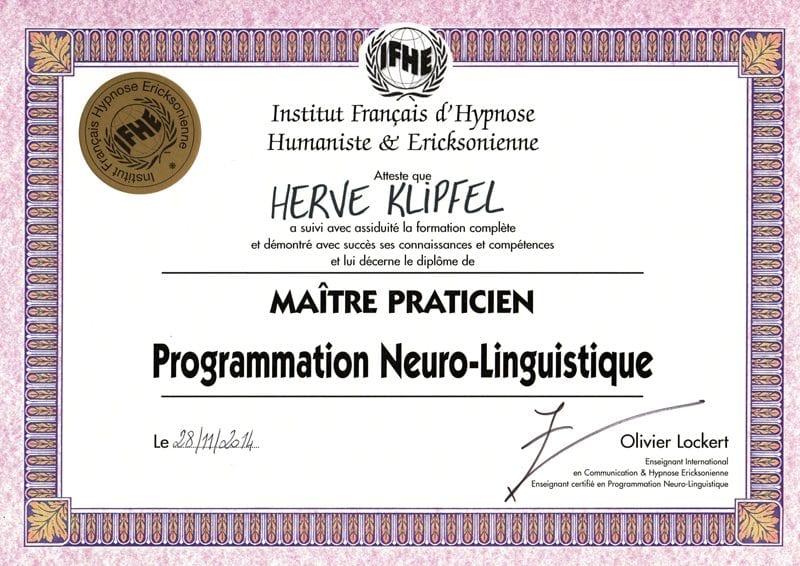 Diplome-Maitre-Praticien-PNL-Herve-Klipfel